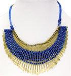 Blue Gold Oars Bohemian Necklace