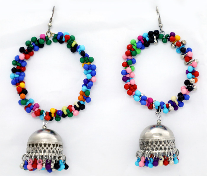 Happy Hippie Earrings with Colorful Beads