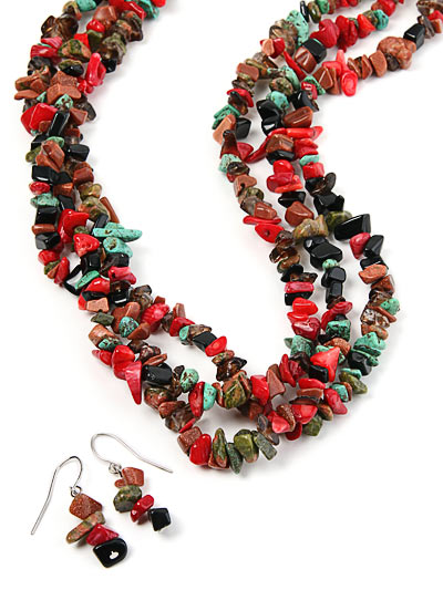 Bead Jewelry Multistrand Necklace
