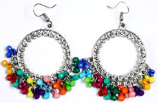 Multicolor Bead Circle Always Boho Earrings
