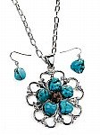 Turquoise Jewelry Necklace Set