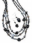 Black Chunky Fashion Jewelry