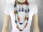 Extra Long MultiColor Necklace Set