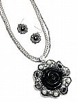 Black Flower Jewelry