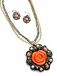 Orange Flower Jewelry