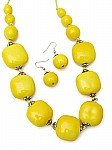Yellow Chunky Beaded Jewelry