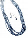 Blue Multi Strand Necklace