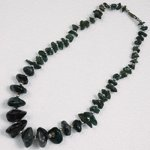 Cut Stone Black Jewel Necklace