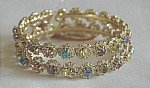 Shiny Multicolor Crystal and Rhinestone Bangle