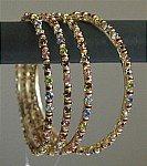 Shiny Multicolor Rhinestone Bangles