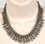 Antique Tone Festive Gypsy Jewelry Necklace