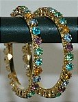Shiny Multicolor Crystal Bangle Bracelet