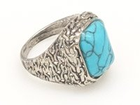 Turquoise Setting Lucky Charm Silver Ring