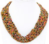 Colorful Beads Egyptian Style Collar Necklace