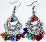 Boho Colorful Tear Drop Shaped Earrings