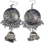 Ethnic Tribal Silver Tone Dangle Earrings
