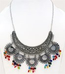 Iconic Boho Choker Necklace with Multicolored Beads