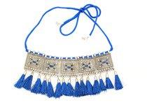 Persian Blue Tassel Choker