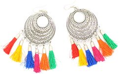 Rainbow Tassel Bohemian Party Earrings