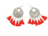 Red Tassel Bohemian Party Earrings