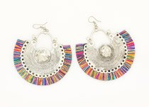 Multicolor Tassel Feather Festive Earrings