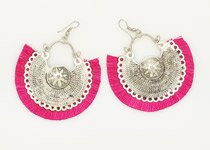 Magenta Pink Boho Earrings