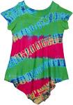 Radish Tie Dye Girls Hippie Dress Top