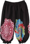 Printed Black Kids Harem Hippie Ankle Elastic Pants