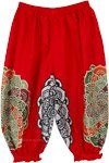 Red Kids Harem Style Festival Pants