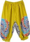 Yellow Baby Harem Pants Mandala Print