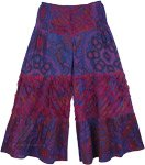 Purple Bonhomie Little Girls Split Skirt Pants