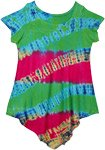 Radish Tie Dye Girls Hippie Dress Top