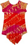 Cranberry Pink Tie Dye Smalls Girls Hippie Trapeze Dress