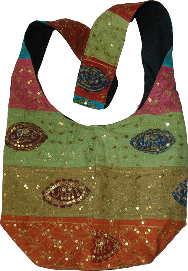 Indian handbag with sequins, Sequined Handbag Ethnic Purse