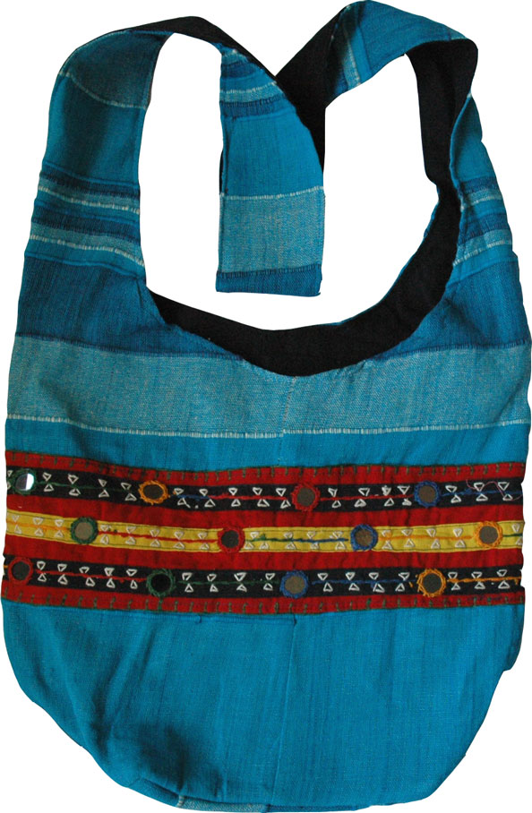 Blue Summer Cotton Handbag