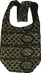 Black Golden Handbag with Sequins