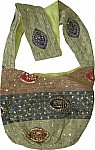Bohemian Sequin Shoulder Purse Bag Green