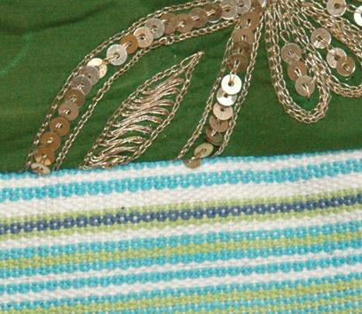 Palm Leaf Striped College Sling Bag