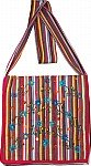 Embroidered Striped Sling Cloth Bag [1546]