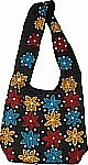 Chocolate Embroidered Shoulder Bag