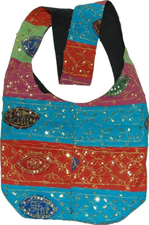Womens handbag purse, Shoulder Bag with Sequins