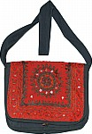Red Black Flap Ethnic Bag