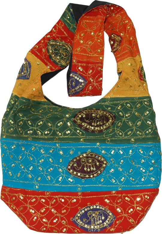 Indian handbag with sequins, Sequined Handbag Ethnic Purse