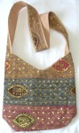 Bohemian Indian Shoulder Purse Handbag in Beige