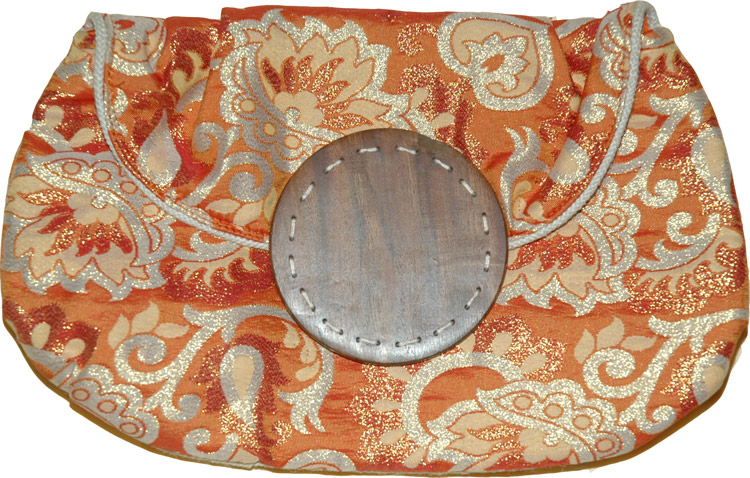 Sari Inspired Clutch, Vintage Clutch Purse
