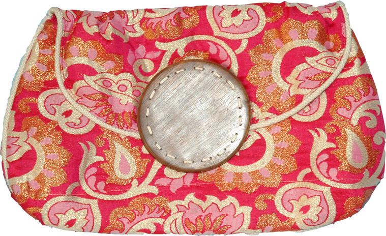 Brocade Clutch Purse, Pink Clutch Purse