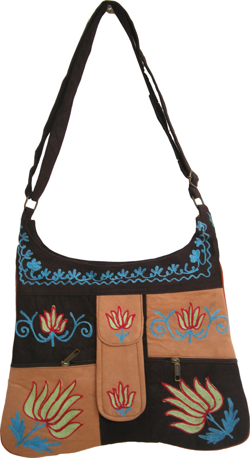 Kashmir Inspired Shoulder Bag, Ethnic Embroidered Shoulder Bag