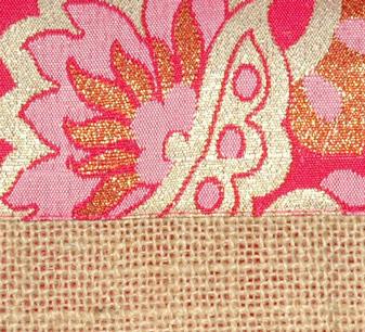 Sari Inspired Jute Bag