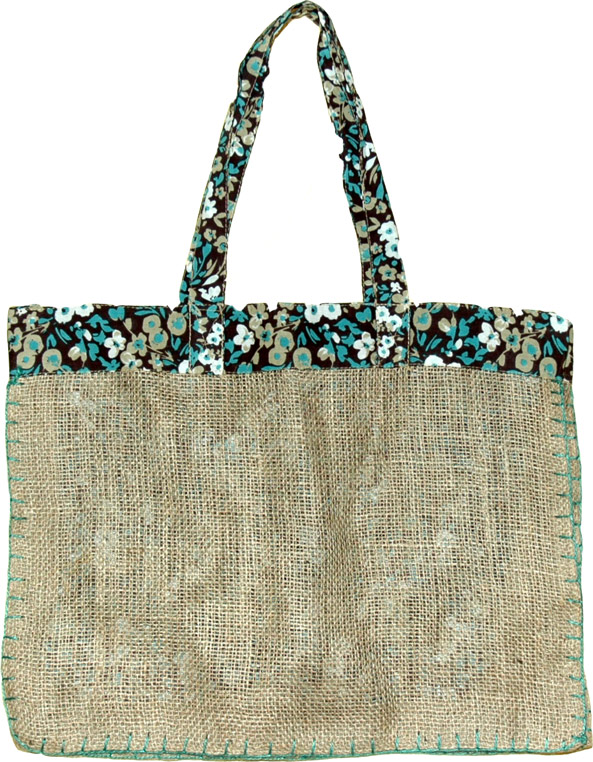 Large Jute Shopping Bag, Reusable Jute Shopping Bag