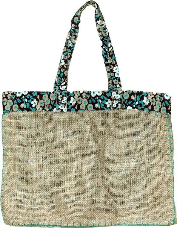 Large Jute Shopping Bag, Reusable Jute Shopping Bag